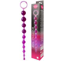 Фиолетовая анальная цепочка Anal stimulator - 26 см.