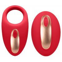 Красное эрекционное виброкольцо Poise с пультом