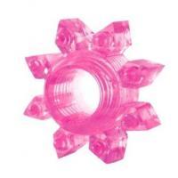 Розовое эрекционное кольцо Cockring star