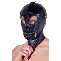Маска на голову с отверстиями для глаз и рта Imitation Leather Mask