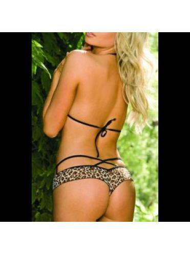 Знойный комплект Safari: лиф и трусики