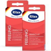 Презервативы анатомической формы с накопителем RITEX PERFECT FIT - 8 шт.