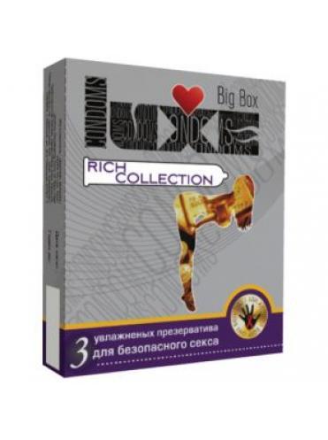 Цветные презервативы LUXE Big Box Rich collection - 3 шт.