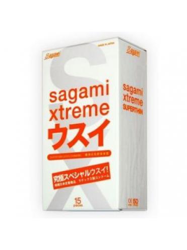Ультратонкие презервативы Sagami Xtreme Superthin - 15 шт.