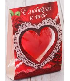 Свеча-сердце  С любовью к тебе