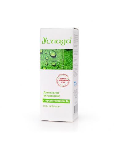 Увлажняющий гель-смазка с провитамином В5  Услада  - 60 гр.