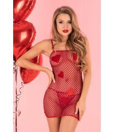 Коротенькое сетчатое платье Sensual Hearts
