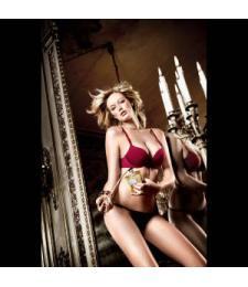 Бюстгальтер Have Fun Princess красно-бордовый с мягкими чашечками, косточками и съемными бретельками