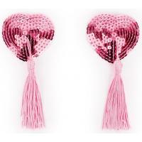 Розовые пэстисы-сердечки с кисточками