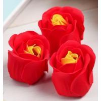 Красные мыльные розочки в шкатулке-сердце  Скрываю очевидное  - 3 шт.