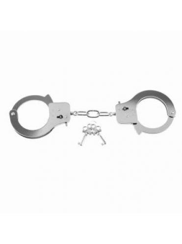 Металлические серебристые наручники Designer Metal Handcuffs