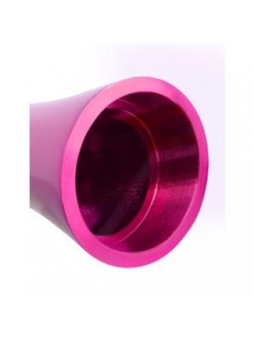 Алюминиевый рельефный вибратор PINK SMALL - 7,5 см.