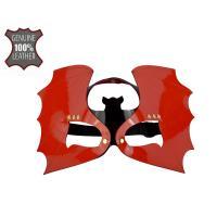 Красно-черная лаковая маска  Летучая мышь