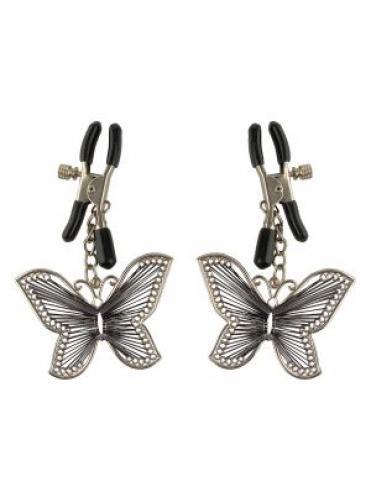 Зажимы на соски с бабочками Butterfly Nipple Clamps