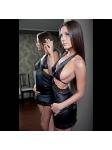 Черное мини платье Adelis