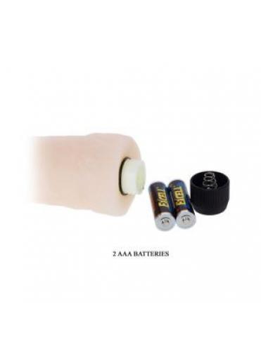 Реалистичный вибратор телесного цвета - 25,5 см.