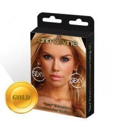 Золотистые круглые серьги SEXY