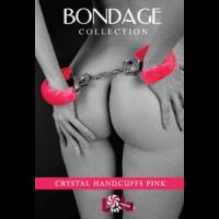 Розовые наручники с кристаллами BONDAGE