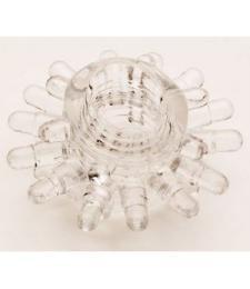 Прозрачное гелевое эрекционное кольцо с шипиками