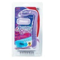 Фиолетовый вибростимулятор G-точки с силиконовой насадкой