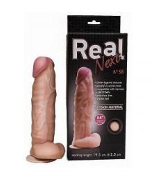 Крупный фаллоимитатор на присоске REAL Next №56 - 24 см.