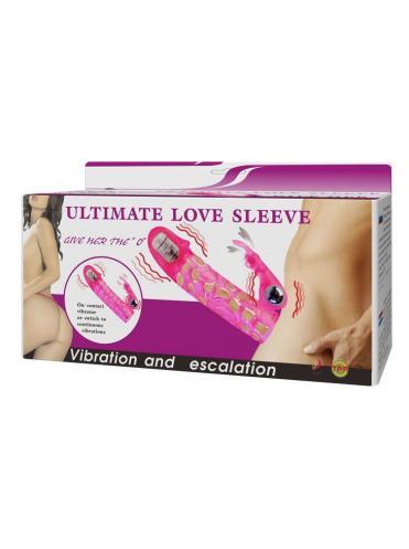 Розовая насадка на фаллос с вибрацией - 13 см.