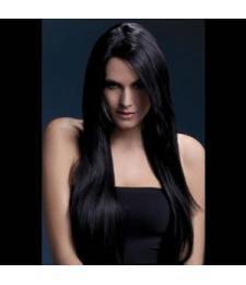 Темноволосый парик с косой чёлкой Amber