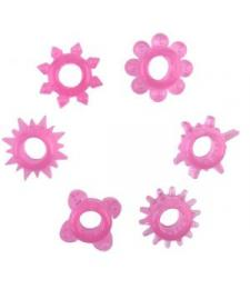 Набор из 6 розовых эрекционных колец