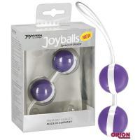 Фиолетово-белые вагинальные шарики Joyballs Bicolored