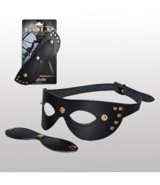 Кожаная маска с шорами Sitabella Gold Collection