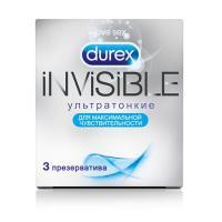 Ультратонкие презервативы Durex Invisible - 3 шт.