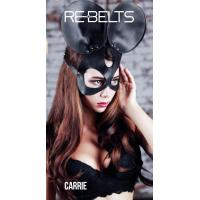 Чёрная маска Carrie Black с круглыми ушками