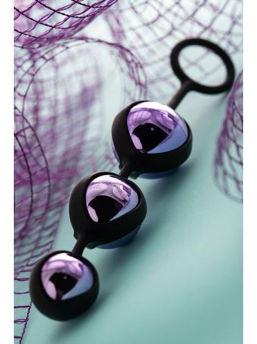 Фиолетово-черные тройные вагинальные шарики TOYFA A-toys