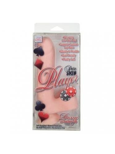 Реалистичный телесный фаллос Pure Skin Player Dongs with Suction Cup 6.25  - 21 см.