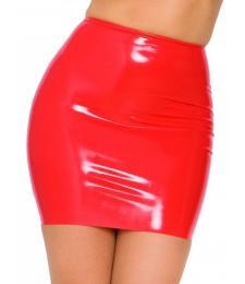 Красная бесшовная юбка из латекса