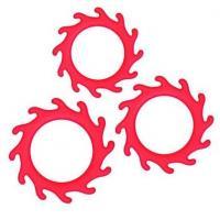 Набор из 3 красных эрекционных колец Renegade Gears