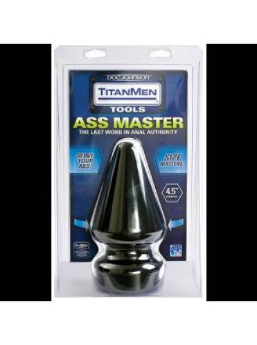Огромный плуг Titanmen Tools Butt Plug 4.5  Diameter Ass Master - 23,1 см.